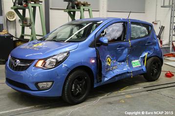 Offizielle Sicherheitsbewertung Opel Karl 2015